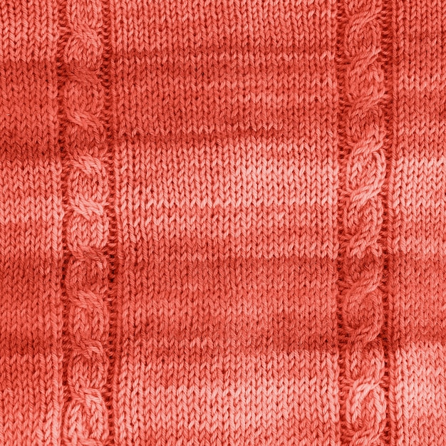Tricoté vie fond corail texture