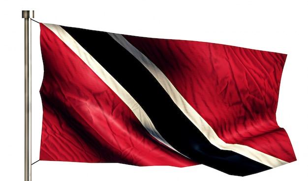Trinité-et-tobago drapeau national isolé fond blanc 3d