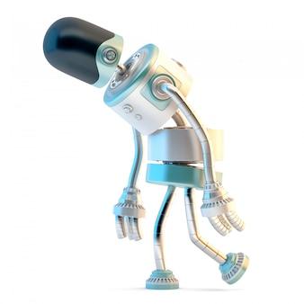 Triste robot marcheur.