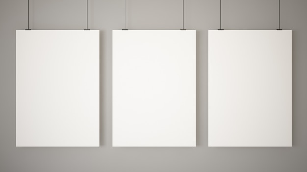 Trois affiches vierges