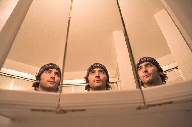 Trois visages d'un homme