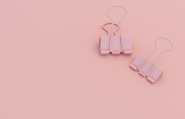 Trombone sur fond rose