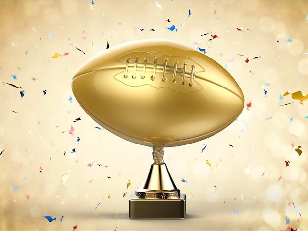 Trophée de football américain en rendu 3d