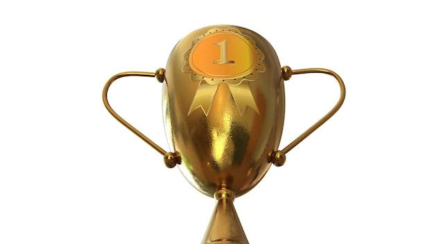Trophée d'or 3d