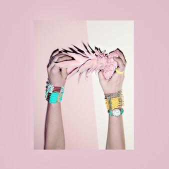 Tropiques de vanille. bijoux de mode. tendance couleurs pastel.