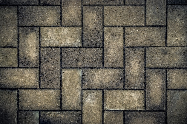 Trottoir de fond, pavé, brique, pavé, route, sentier.
