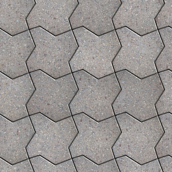 Trottoir gris comme carré ondulé. texture tileable sans couture.