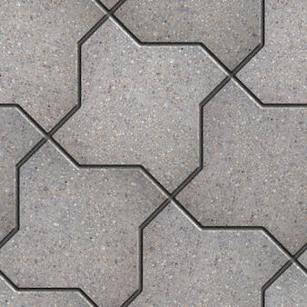Trottoir gris figuré comme carré de flexion. texture tileable transparente.