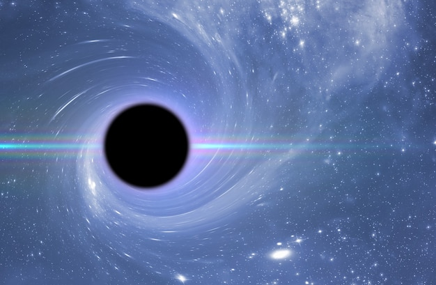 Un trou noir dans l'espace extra-atmosphérique, une science abstraite fantastique, des étoiles profondes de l'univers,