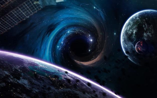 Trou noir dans l'espace