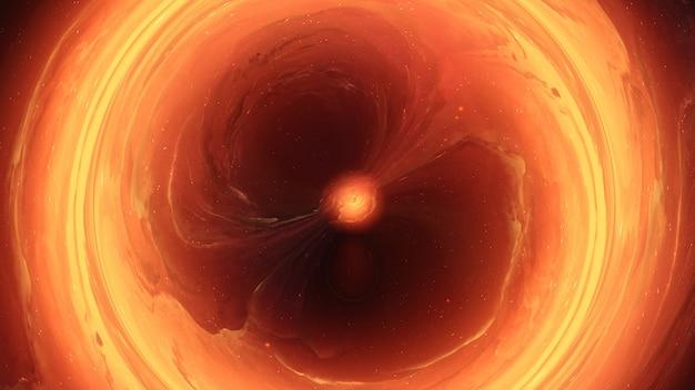 Trou de ver de galaxie d'univers de trou noir, monde parallèle, absorption de matière, nébuleuse universelle de chaos des étoiles fond abstrait de cosmos, tornade d'étoiles