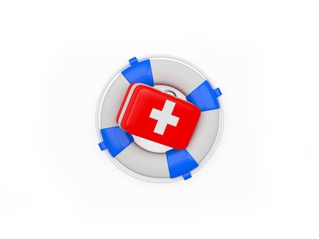 Trousse de premiers soins et bouée de sauvetage