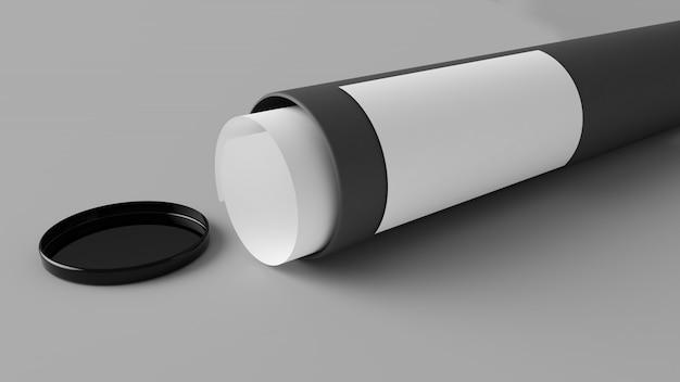 Tube en carton gris