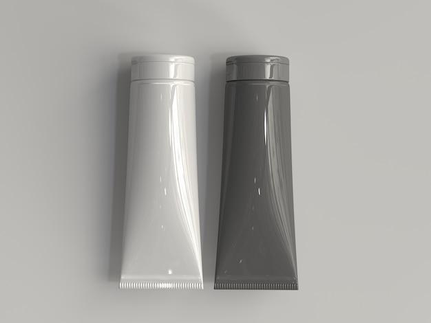 Tube cosmétique rendu 3d sans étiquette