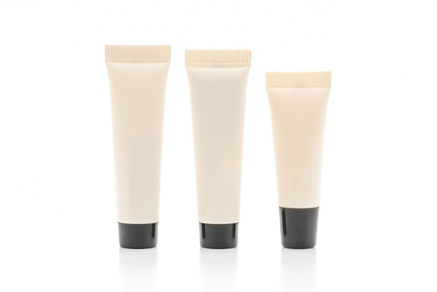 Tube cosmétique vide de crème ou de gel isolé