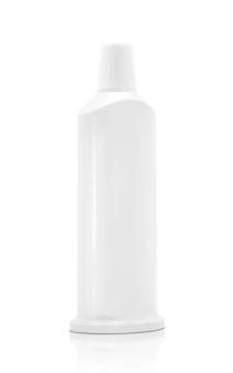 Tube de dentifrice en plastique d'emballage vide isolé