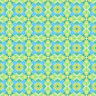 Tuile organique. design d'été boho chic remarquable vert. bordure verte organique à la mode. impression impressionnante prête pour le textile, tissu de maillot de bain, papier peint, emballage.