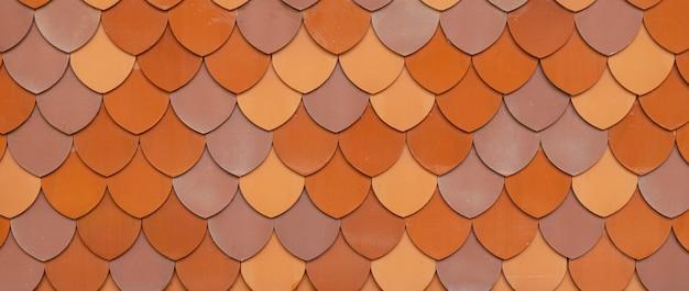 Tuile de toit en argile motif de texture mignon et beau large pour la bannière d'arrière-plan