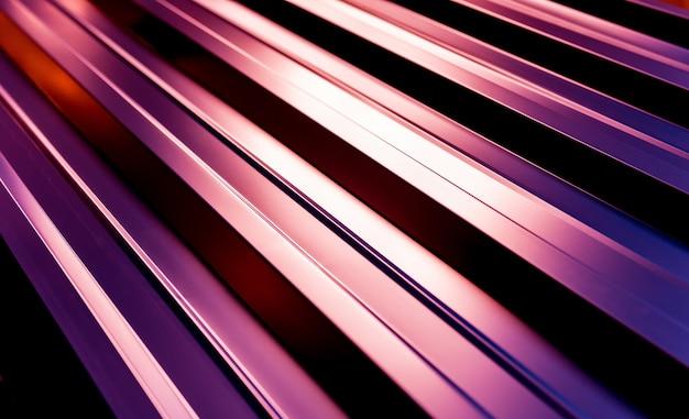 Tuiles métalliques violettes avec motif léger