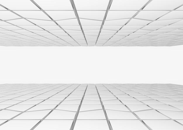 Tuiles de modèle de forme trapézoïdale grise fond de plafond et de plancher.