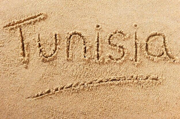 Tunisie plage sable signe