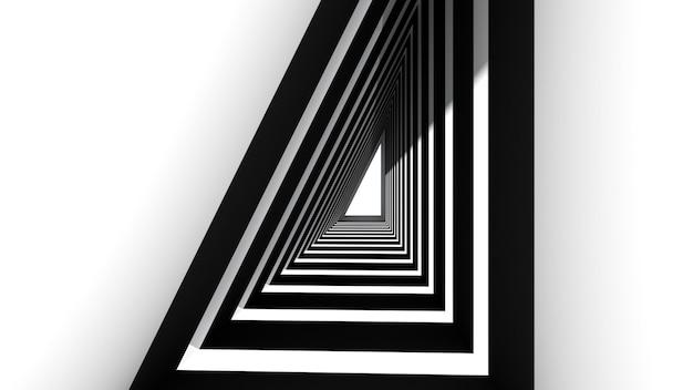 Tunnel futuriste triangle