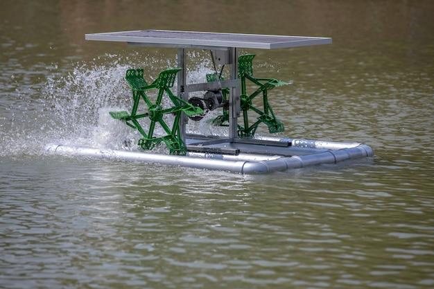 Turbine hydraulique pour le traitement de l'eau et la circulation de l'oxygène
