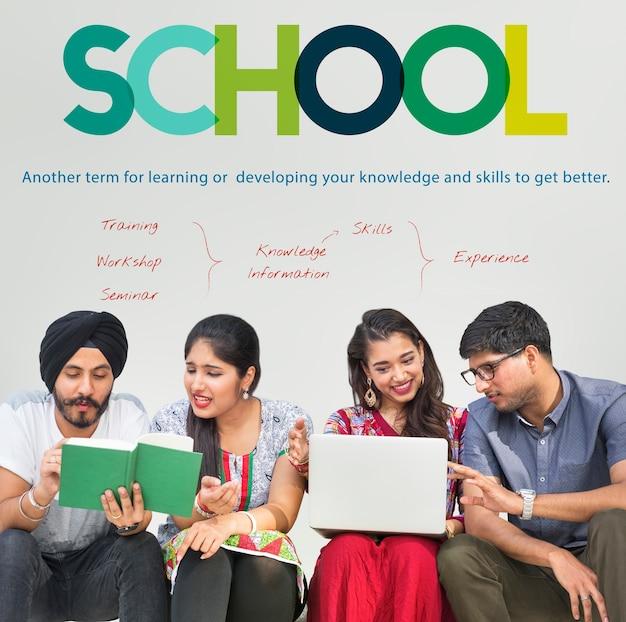 Tutorial school tutoriel institut concept de l'institut