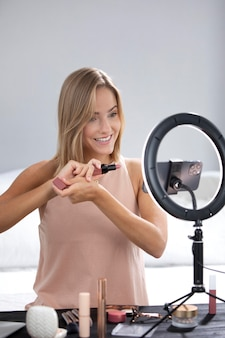 Tutoriel de maquillage vlogger