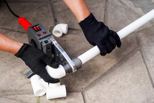 Tuyaux d'outil de soudage de tuyaux ppr en plastique soudé par génie sanitaire