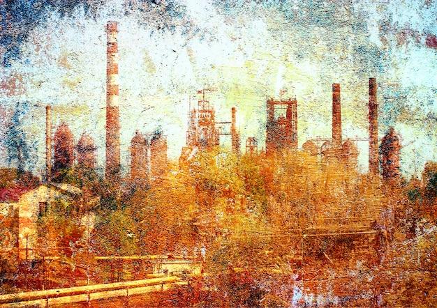 Tuyaux d'usine métallurgique.