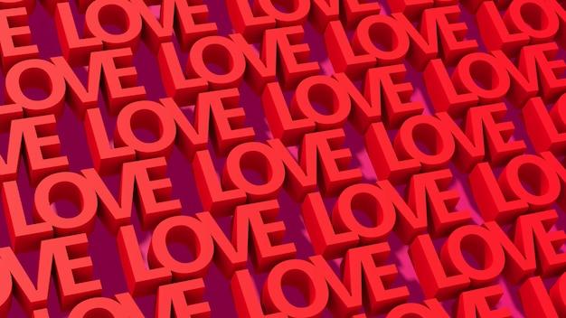 Typographie de l'amour rouge