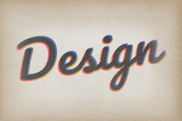 Typographie de conception en police vintage