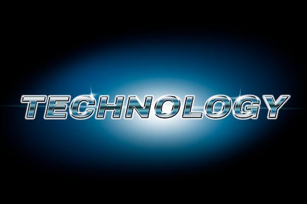 Typographie technologique dans la police lens flare