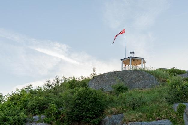 Uranienborg, le magnifique point de vue de mandal, une petite ville du sud de la norvège