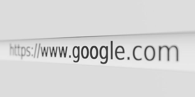 Url du site web adresse google dans le navigateur