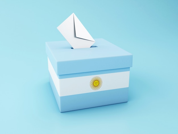 Urne 3d, élections Argentines 2019 Photo Premium