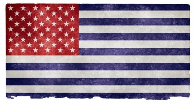 Usa flag grunge inversé