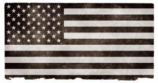 Usa flag grunge noir et blanc