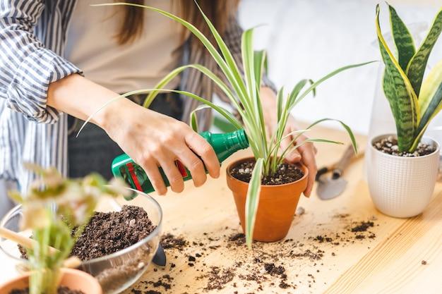 Usine d'engrais femme jardiniers