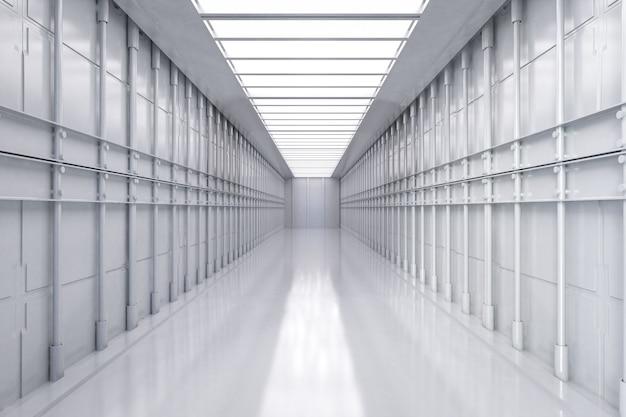 Usine ou entrepôt vide intérieur blanc et propre