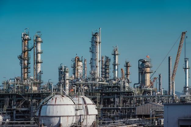 Usine industrielle pétrochimique