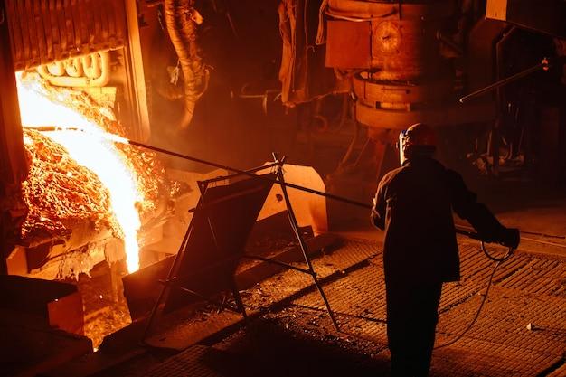 Usine de production d'acier