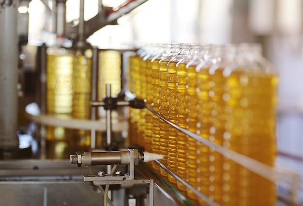 Une usine de production d'huile de tournesol.