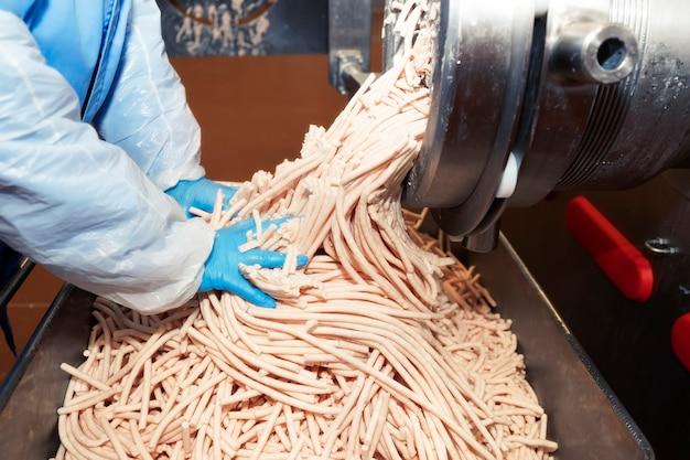Usine de production de produits carnés