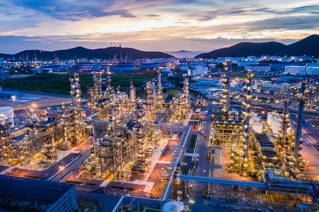 Usine de raffinerie de gpl et de gazoducs de pétrole et de gaz dans les zones industrielles en thaïlande