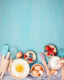 Ustensiles de cuisson, ingrédients de cuisine