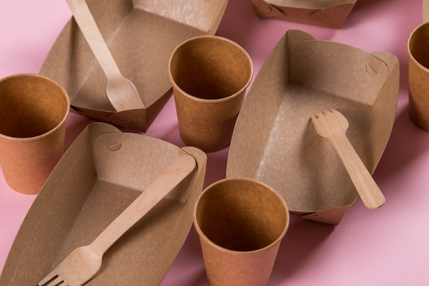 Ustensiles écologiques en papier