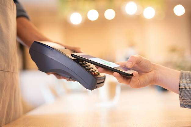 Utilisation du smartphone pour le paiement