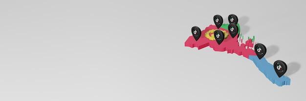 Utilisation des médias sociaux et de tik tok en érythrée pour des infographies en rendu 3d